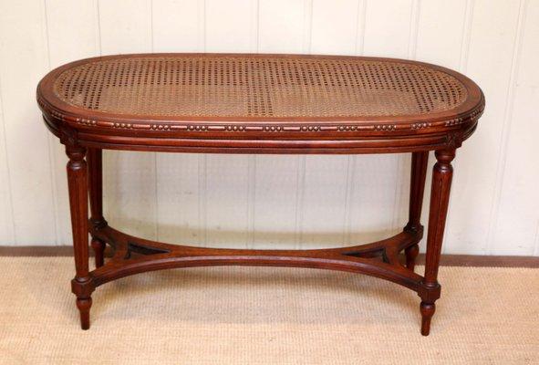 Stupendous Antique French Walnut Cane Window Seat Theyellowbook Wood Chair Design Ideas Theyellowbookinfo