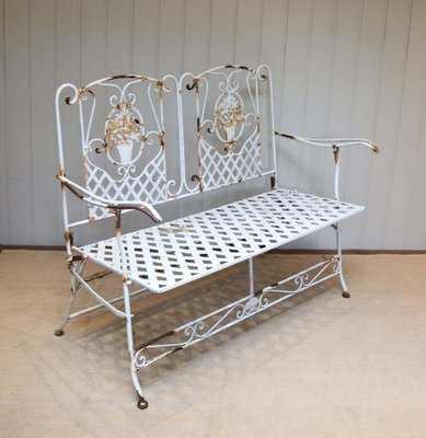 Brilliant Vintage French Metal Garden Bench 1920S Ocoug Best Dining Table And Chair Ideas Images Ocougorg