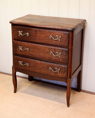 Small Antique French Oak Chest Of Drawers For Sale At Pamono