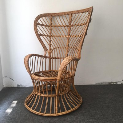 Set Giardino Rattan Ikea.Wicker Lounge Chair By Lio Carminati For Casa E Giardino 1960s
