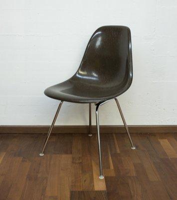 Brauner H Vintage Vitra DSS von CharlesRay Eames für aus Stuhl Fiberglas WDIYbE2eH9