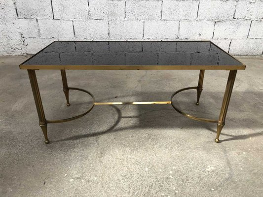 Laiton Style En Basse Table ColoréFrance1950s Verre Empire Et FcKTl1J