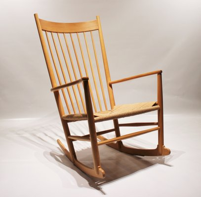 Swell Scandinavian Modern Danish J16 Rocking Chair By Hans J Wegner For Fredericia 1960S Unemploymentrelief Wooden Chair Designs For Living Room Unemploymentrelieforg
