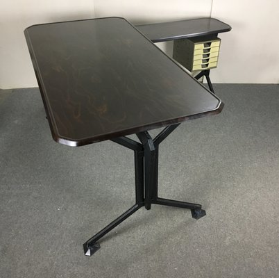 Italian Modern Bakelite and Iron Desk by BBPR for Olivetti Synthesis, 1960s