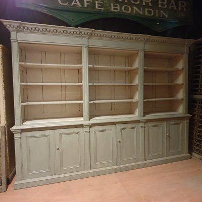 Large Antique Pine Kitchen Cabinet or Bookcase