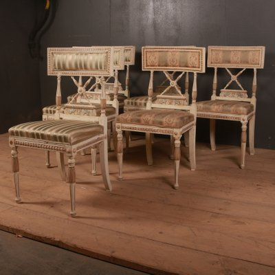Antique Wooden Side Chairs Set Of 6 Bei Pamono Kaufen