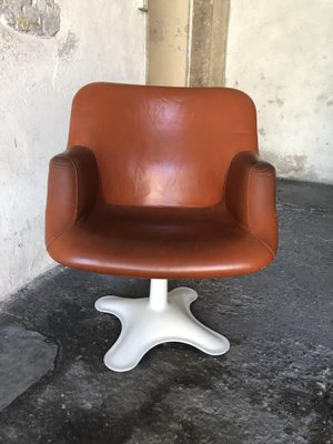 Leather Swivel Dining Chairs By Yrjo Kukkapuro For Haimi 1960s Set Of 4