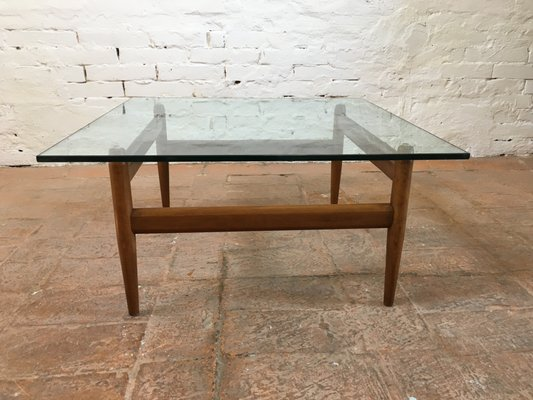 Italian Glass Coffee Table.Mid Century Italian Glass Coffee Table 1950s
