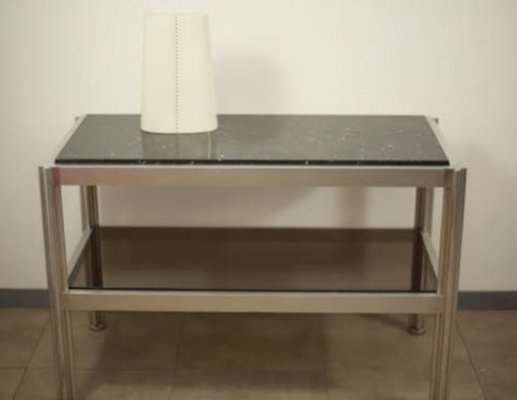 Consolle In Alluminio.Consolle In Alluminio Di George Ciancimino Crossbar Per Mobilier International Anni 70