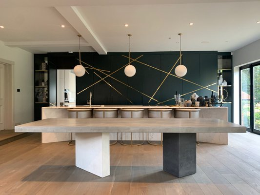 Euclide Concrete Dining Table By, Concrete Dining Room Table