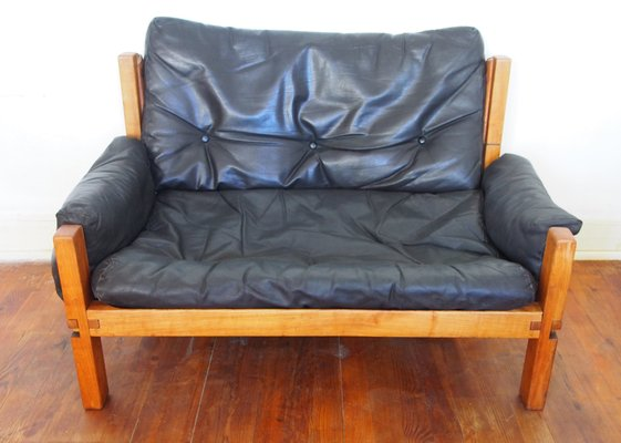 Incredible Mid Century French Leather Model S 60 2 Seater Sofa By Pierre Chapo 1960S Machost Co Dining Chair Design Ideas Machostcouk