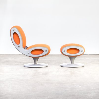 Marvelous Italian Gluon Swivel Chair And Ottoman By Marc Newson For Moroso 1990S Gmtry Best Dining Table And Chair Ideas Images Gmtryco