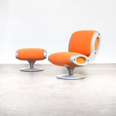 Cool Italian Gluon Swivel Chair And Ottoman By Marc Newson For Moroso 1990S Gmtry Best Dining Table And Chair Ideas Images Gmtryco