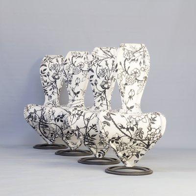 colore veloce abbigliamento sportivo ad alte prestazioni vendita a buon mercato usa Italian Wild Roses Dining Chairs by Tom Dixon for Cappellini, 1991, Set of 4
