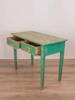 Mesa de comedor rústica de abeto, años 30