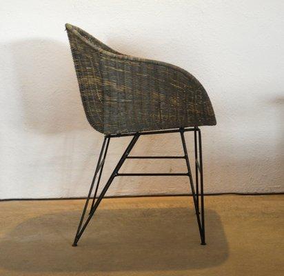 Handgefertigter Esszimmerstuhl aus Eisen & Rattan von Suite Contemporary, 2019