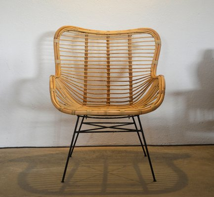 Sedia Design Vimini.Sedia In Ferro E Vimini Di Suite Contemporary