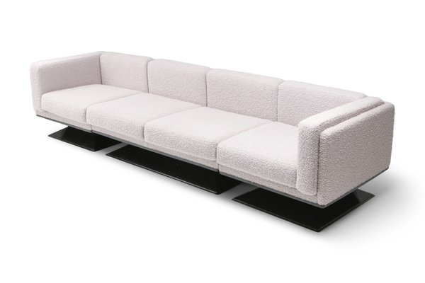 Outstanding Mid Century Modern Boucle Sofa By Luigi Pellegrin For Mim 1960S Gmtry Best Dining Table And Chair Ideas Images Gmtryco