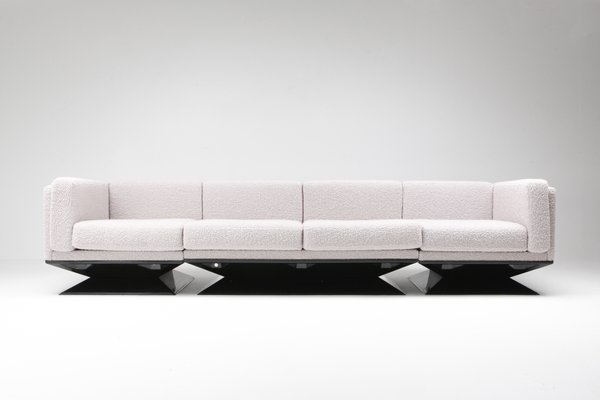 Fabulous Mid Century Modern Boucle Sofa By Luigi Pellegrin For Mim 1960S Gmtry Best Dining Table And Chair Ideas Images Gmtryco