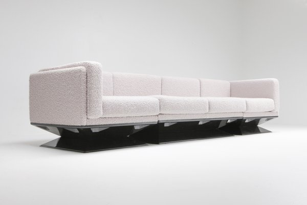 Fine Mid Century Modern Boucle Sofa By Luigi Pellegrin For Mim 1960S Gmtry Best Dining Table And Chair Ideas Images Gmtryco