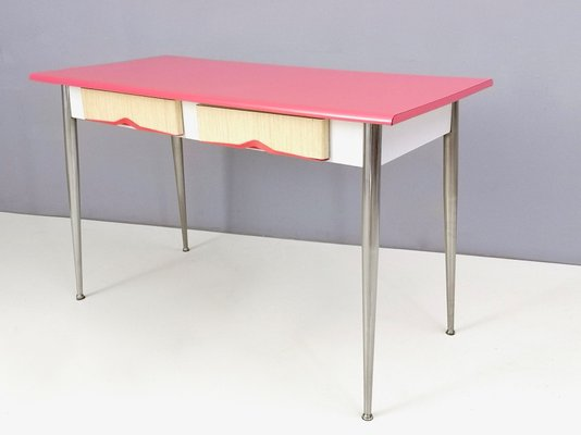 Mid Century Italian Metal And Formica Dining Table 1950s For Sale At Pamono