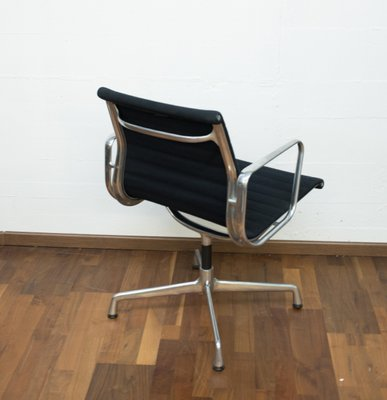 EA10 Vintage Aluminum And Hop Sack Desk Chair By Charles U0026 Ray Eames For  Vitra