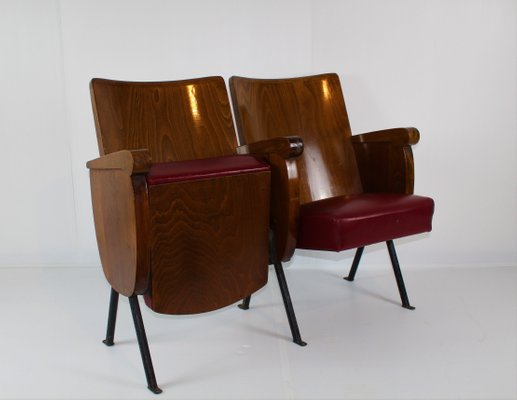 Magnificent Italian 2 Seater Theatre Bench 1950S Caraccident5 Cool Chair Designs And Ideas Caraccident5Info