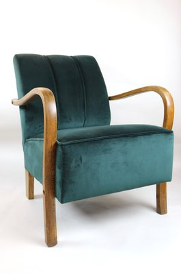 Poltrone Art Deco Anni 60.Poltrona Art Deco In Velluto Verde Germania Anni 60