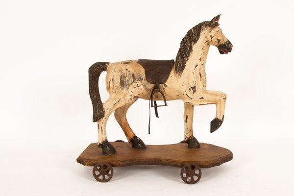 Antikes Spielzeugpferd, 1880er bei Pamono kaufen