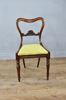 Awesome Antique Regency Rosewood Dining Chairs Set Of 4 Ncnpc Chair Design For Home Ncnpcorg