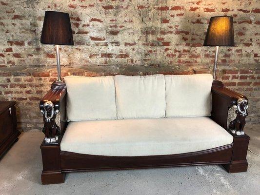 Empire Style Mahogany Sofa For At