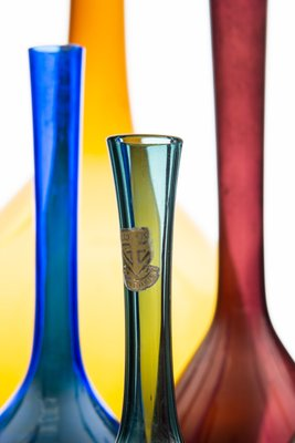 Scandinavian Modern Glass Vases By Arthur Percy 1950s Set Of 19 For Sale At Pamono