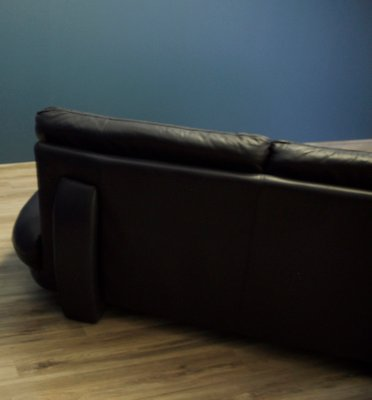 Awesome Large Vintage Italian Leather Corner Sofa From Nicoletti 1980S Ncnpc Chair Design For Home Ncnpcorg