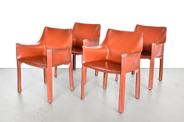 Fantastic Italian Cab 413 Leather Dining Chairs By Mario Bellini For Cassina 1990S Set Of 4 Ocoug Best Dining Table And Chair Ideas Images Ocougorg