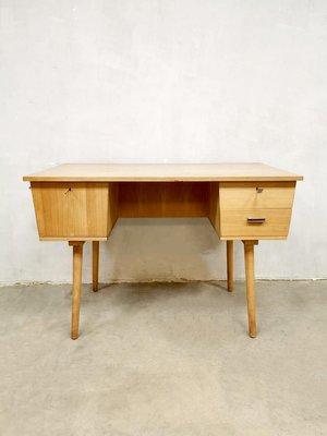 Fine Mid Century Industrial Birch Desk 1960S Download Free Architecture Designs Scobabritishbridgeorg