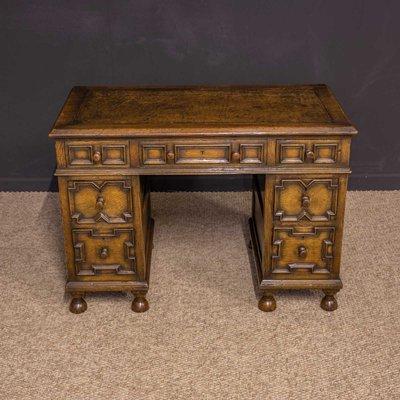 Stupendous Small Jacobean Style Oak Desk 1930S Ibusinesslaw Wood Chair Design Ideas Ibusinesslaworg