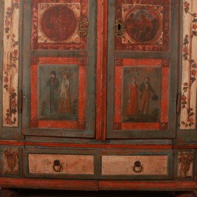 Armoire De Mariage Peinte Autriche 1780s En Vente Sur Pamono