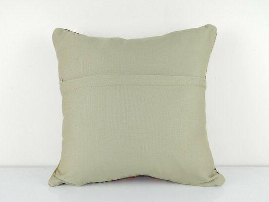 Large Colorful Kelim Sofa Pillow Cover From Vintage Pillow Store