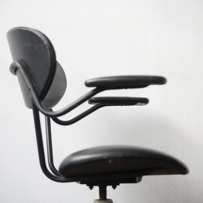 Stupendous Mid Century Italian Steel And Vinyl Desk Chair 1960S Ocoug Best Dining Table And Chair Ideas Images Ocougorg