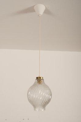 J tKalmar Par Lampe Laiton Et En Pour Texturé Tulipe À Kalmar1950s Suspension Verre Rj435AL