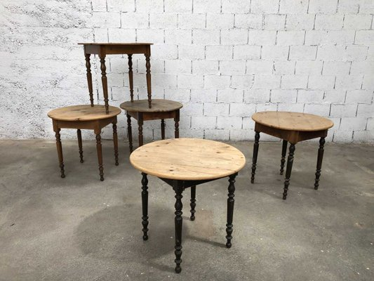Vintage French Pine And Walnut Bistro Table 1930s For Sale At Pamono