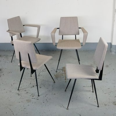 Italian Cast Iron Dining Chairs From Velca, 1950s, Set Of 4