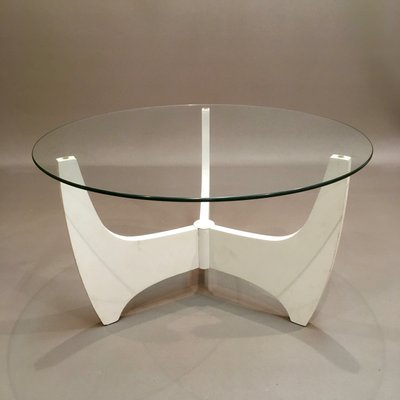 Charmant Scandinavian Modern Glass And Compressed Wood Coffee Table, 1960s