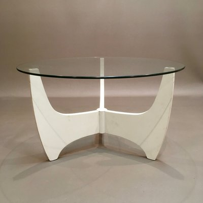 Scandinavian Modern Gl And Compressed Wood Coffee Table 1960s