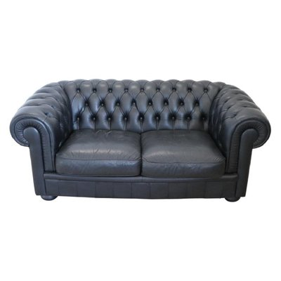 Mid-Century Leather Chesterfield Sofa from Poltrona Frau, 1960s