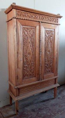 Vintage Indonesian Teak Cabinet 1920s