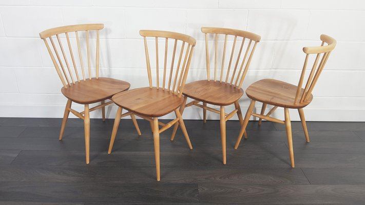 sports shoes 1572d bca31 Vintage Windsor Bow Top Dining Chairs by Lucian Ercolani for Ercol, 1960s,  Set of 4
