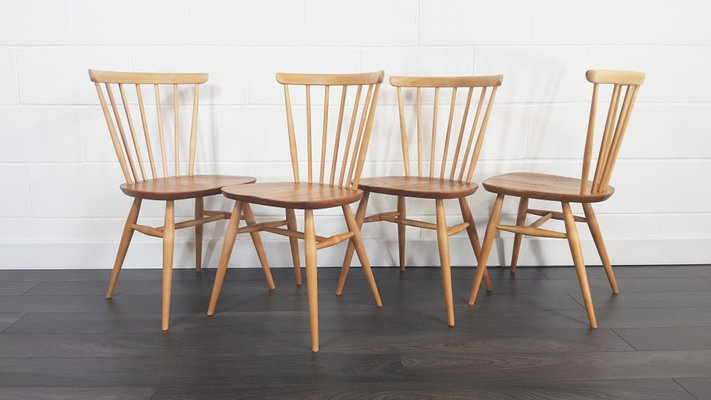 Awe Inspiring Vintage Windsor Bow Top Dining Chairs By Lucian Ercolani For Ercol 1960S Set Of 4 Alphanode Cool Chair Designs And Ideas Alphanodeonline