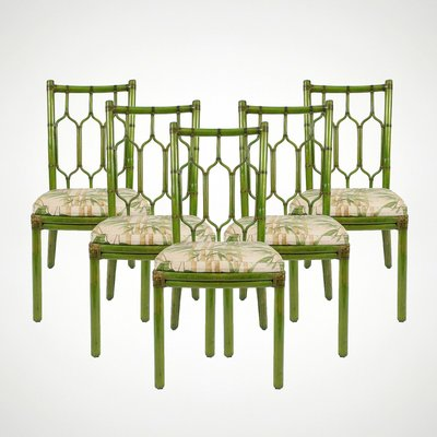 Amazing Bohemian Leather And Bamboo Dining Chairs 1970S Set Of 5 Cjindustries Chair Design For Home Cjindustriesco