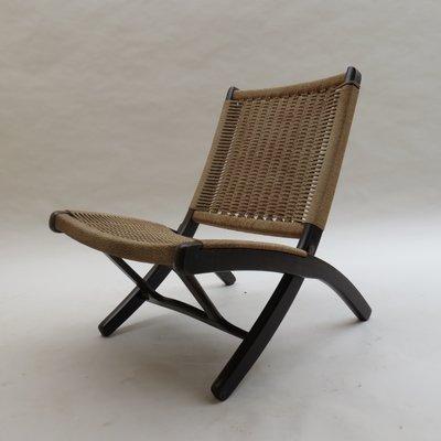 Papier1970s Et Chaise En Pliante Corde Vintage Bois tsxBrChdoQ